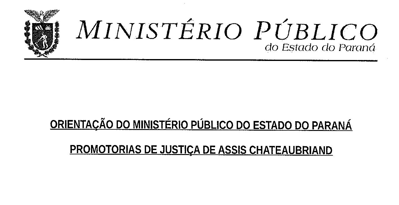 Orientações do Ministério Público quanto ao Coronavírus.