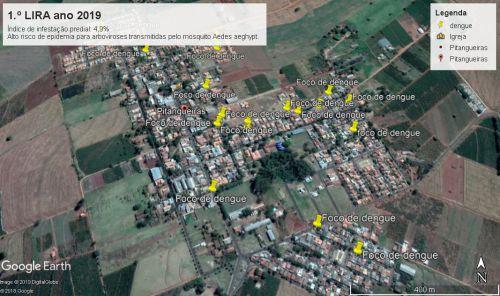 se LIRA (Levantamento de infestação predial por mosquito Aedes aeghypt nos imóveis urbanos),