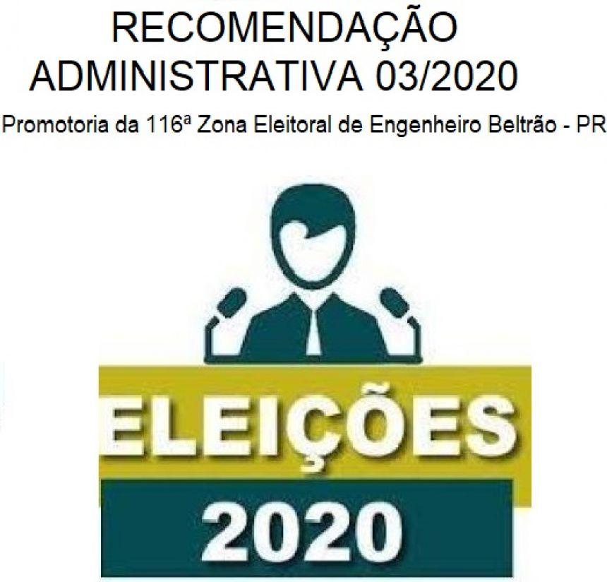 RECOMENDAÇÃO ADMINISTRATIVA 03/2020