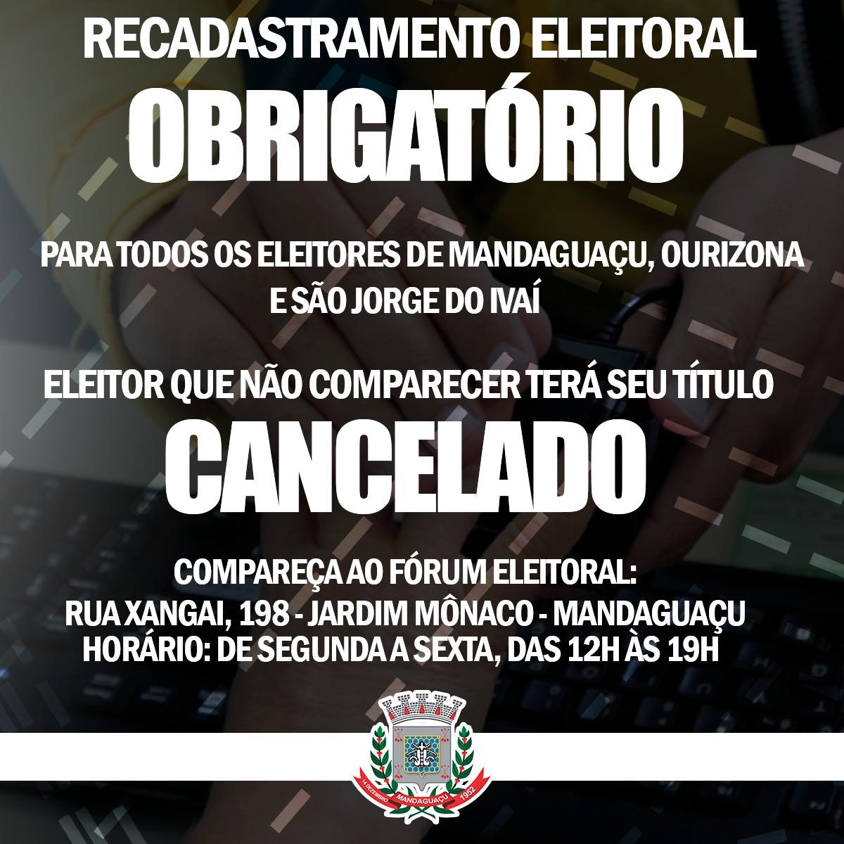 Último prazo para cadastro biométrico em Mandaguaçu