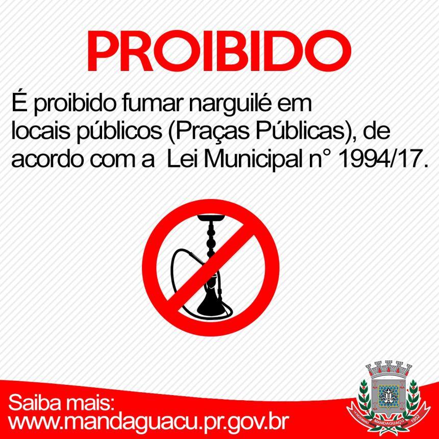 Mandaguaçu proíbe o uso de narguilé em locais públicos