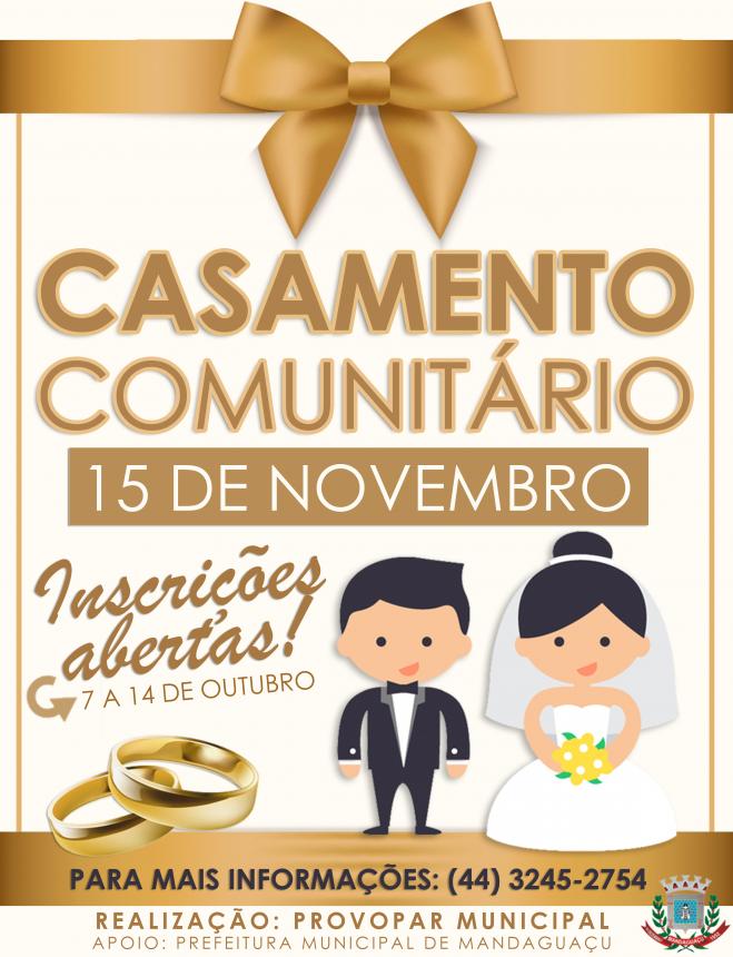Provopar Municipal realiza casamento comunitário 2016
