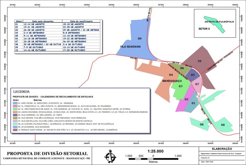 Departamento de Meio Ambiente promove ação de recolhimento de entulhos e resíduos volumosos no município