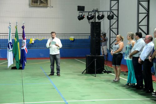 Inauguração da Quadra Escolar Poliesportiva da Escola Municipal Gilson Belani