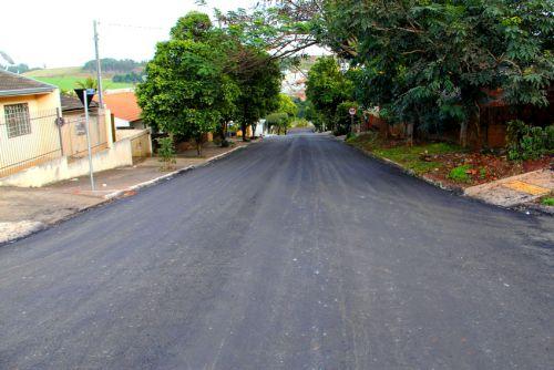 Recapeamento asfáltico em Mandaguaçu continua a todo vapor