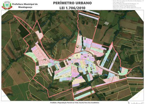 Mapa de Perímetro Urbano - Lei 1.706/2010