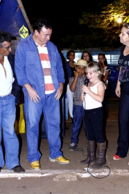 Arraiá em comemoração ao Dia dos Pais da Escola Municipal Miguel de Souza