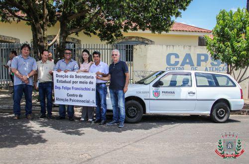 CAPS I de Mandaguaçu é habilitado e recebe veículo