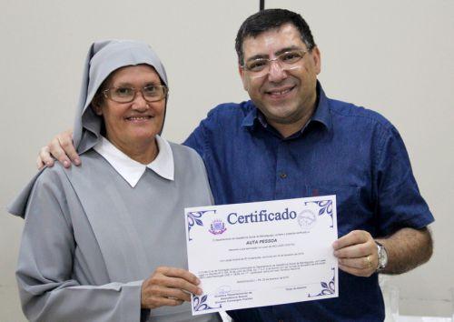 Entrega de certificados aos alunos do Telecentro/Espaço Cidadão