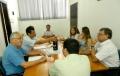 Prefeito, vice-prefeito e presidente da câmara participa de reunião com a Cohapar