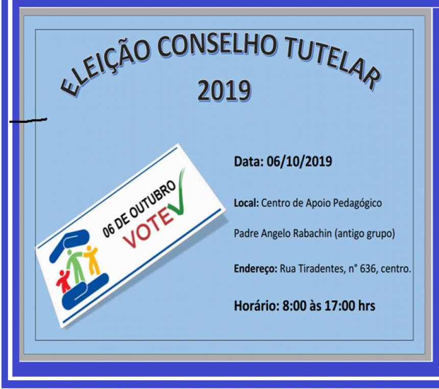 Eleição do conselho tutelar 2019
