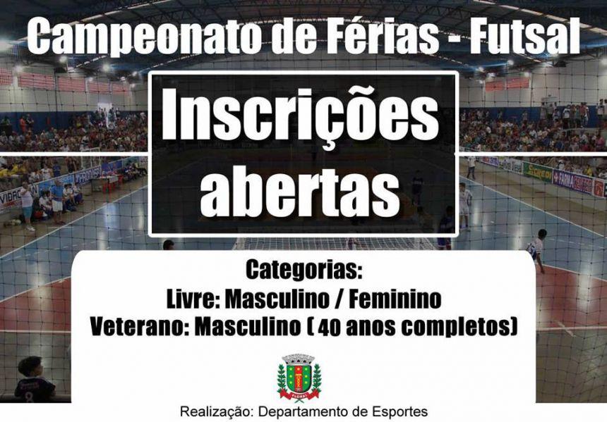 Florai promove o campeonato de futsal.