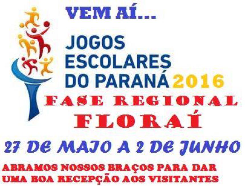 63o Jogos escolares do Paraná 2016- fase regional em Florai