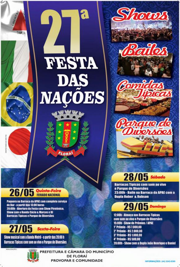 Festa das nações em Florai.