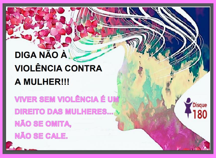 Diga não à violência contra a mulher