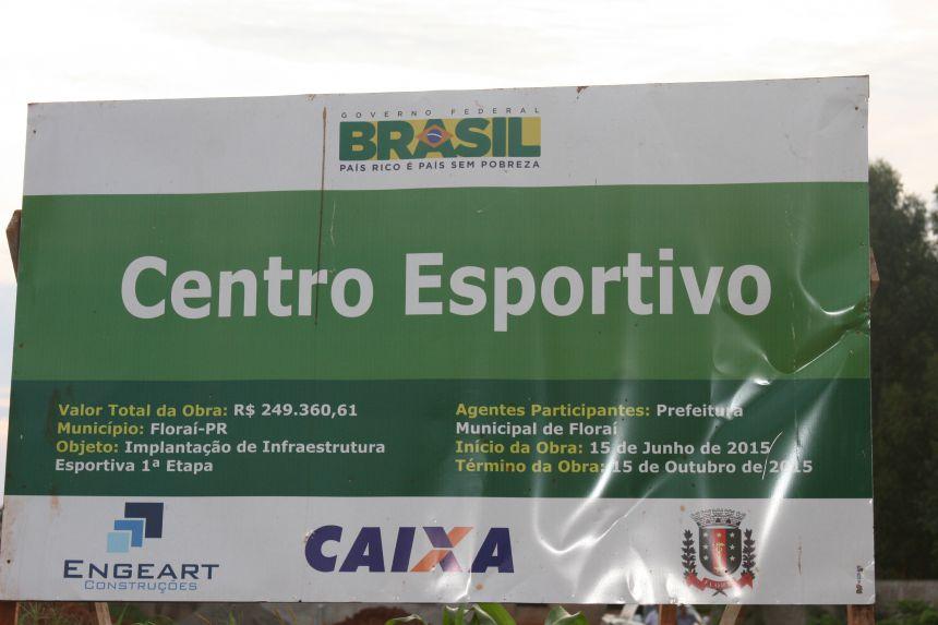 Implantacao de Infraestrutura Esportiva.