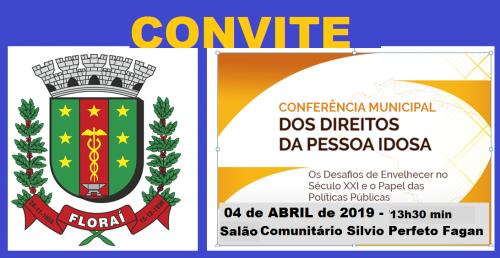 Conferencia Municipal do Idoso em Florai.