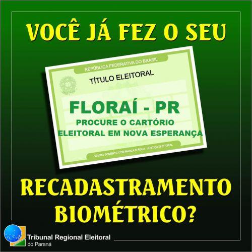 Recadastramento Biométrico em Florai