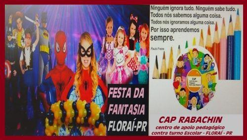 Festa a Fantasia no centro apoio pedagógico.