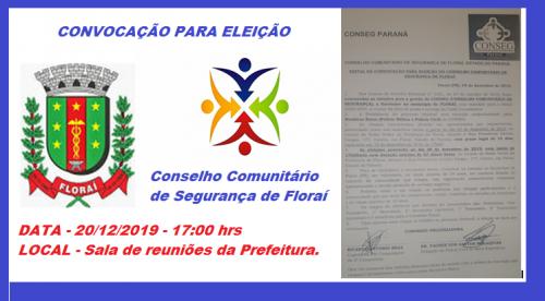 Eleição do conselho Comunitário de Segurança de Florai.
