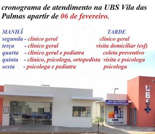 UBS vila das Palmas inicia atendimento aos usuarios.