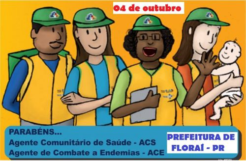 04 de outubro dia do ACS E ACE