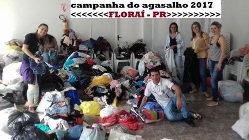 Campanha do agasalho 2017 em Floraí.