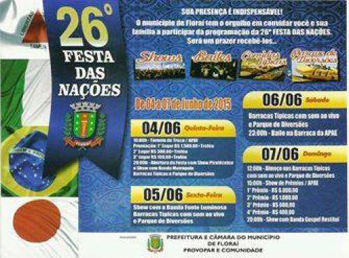 26ª festa  das nações de Florai.