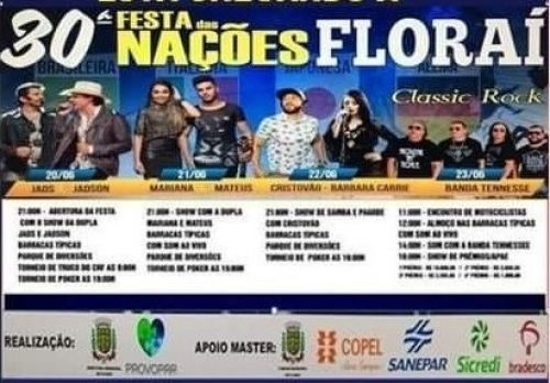 30ª festa das nações de Florai