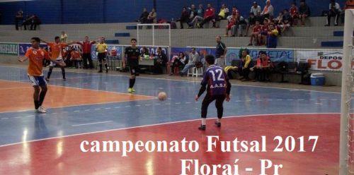 Campeonato de Futsal em Floraí.