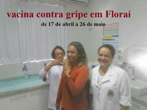 Floraí inicia Campanha de vacinação contra Gripe.