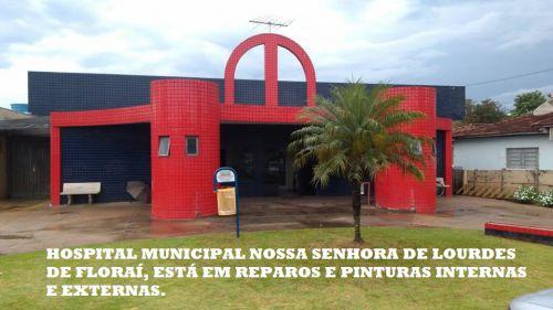 Hospital Municipal em manutenção predial.