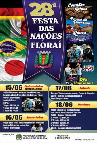 XXVIII festa das nações em Floraí
