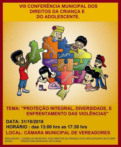VIII conferência municipal dos direitos da criança e do adolescente de Floraí.