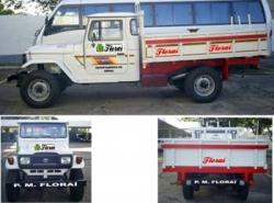 Frota de veiculos e maquinas da municipalidade.