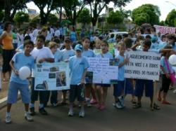passeata de estudantes - campanha da fraternidade 2007