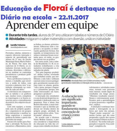 Educação é destaque em Floraí.