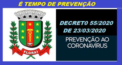 Decreto municipal à prevenção do Coronavirus