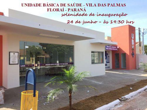 Vila das Palmas recebe sua unidade de saude.