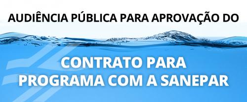 EDITAL DE CONVOCAÇÃO AUDIÊNCIA PÚBLICA CONTRATO DE PROGRAMA e MODELO DE CONTRATO DE PROGRAMA