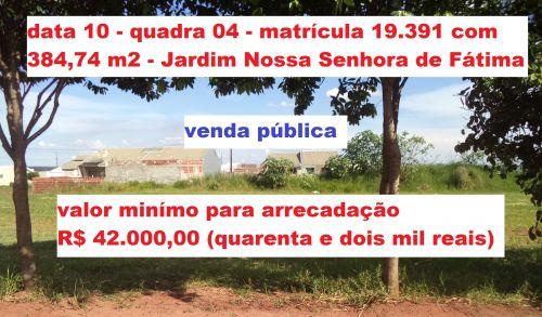 Municipio publica venda de terrenos