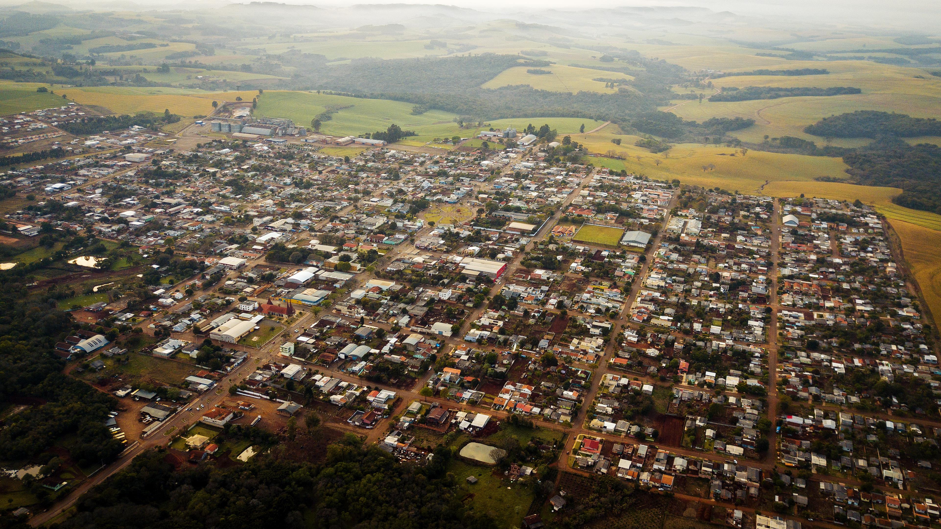 foto aérea da cidade