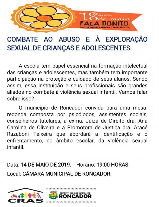 COMBATE AO ABUSO E À EXPLORAÇÃO SEXUAL DE CRIANÇAS E ADOLESCENTES