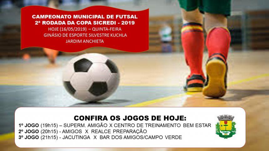 2ª RODADA DA COPA SICREDI 2019