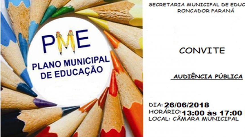 AUDIÊNCIA PÚBLICA DO PLANO MUNICIPAL DE EDUCAÇÃO