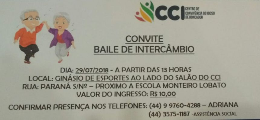 CENTRO DO IDOSO PROMOVE BAILE DE INTERCÂMBIO