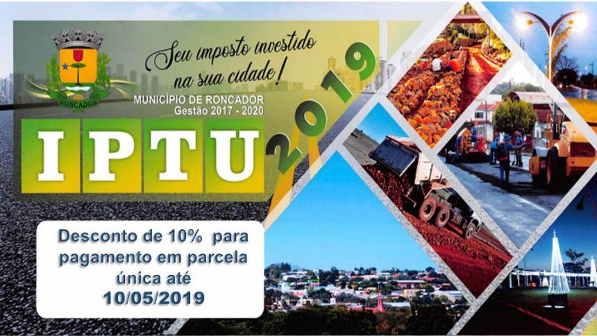 APROVADO DESCONTO DE 10% PARA PAGAMENTO DO IPTU