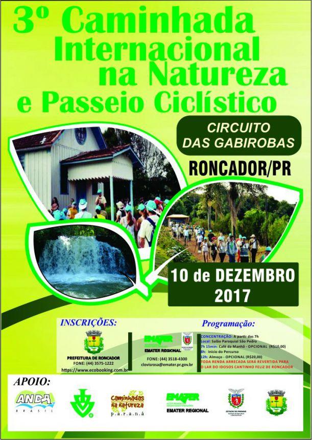 Município de Roncador promove a 3ª Caminhada Internacional da Natureza e Passeio Ciclístico