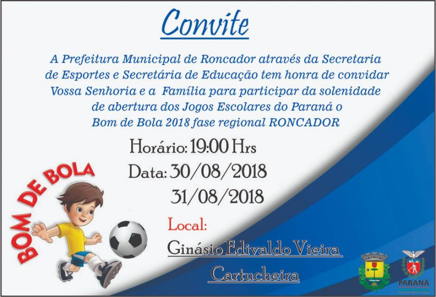 Solenidade de abertura da fase regional do  JEPS - Bom de Bola 2018