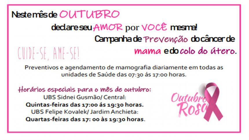 SECRETARIA DE SAÚDE REALIZA ENCERRAMENTO DA CAMPANHA OUTUBRO ROSA NA PRAÇA CENTRAL